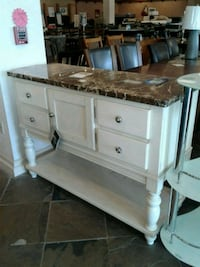 Faux Marble Top Buffet Table  Phoenix, 85018