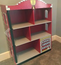 New Kidkraft Firehouse Bookcase with real Bell!! Frederick, 21702