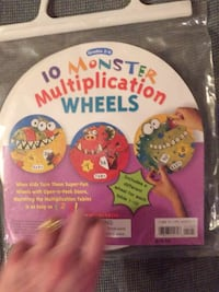 New 10 Monster Multiplication Wheels-different wheel for each table 1-10 Columbia, 21045