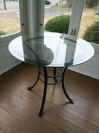 Glass table 36 in