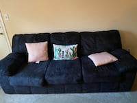 2 Black suede couches