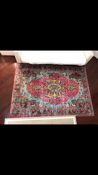 Red, blue, and white floral area rug Aventura, 33160