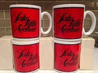 NEVER USED 4 Coffee Mugs made in England New York, 11370