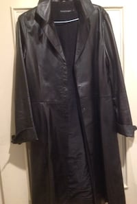 Mackage black leather coat 140.00 Beaconsfield, H9W 5C5