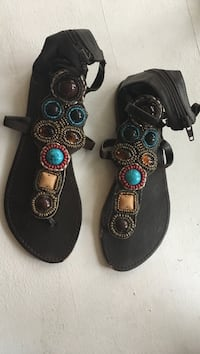 Beaded sandals size 6