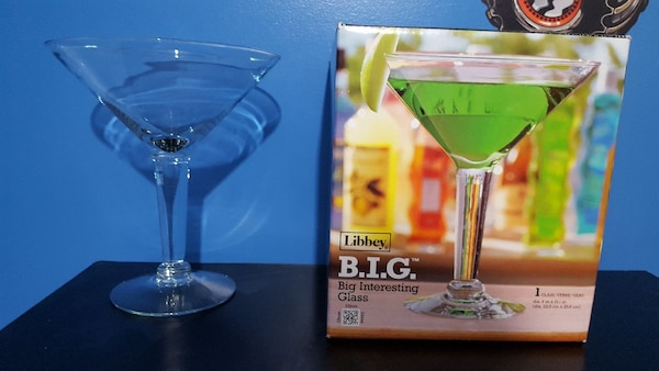 721412326 Used 44 oz Large Martini Glass for sale in New Palestine - letgo