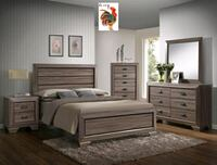 Farro Grayish Brown Panel Bedroom Set | UWB498 Conroe, 77301