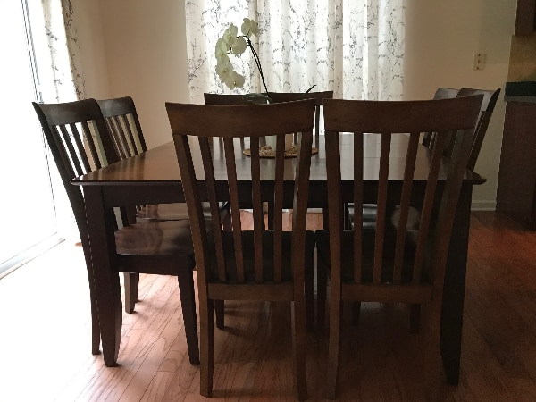 9 Pc Dining Room Set Table With Leaf And 8 Dinette Chairs