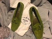 pair of green leather loafers Baltimore, 21212