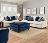 white and blue sectional sofa Bakersfield, 93314