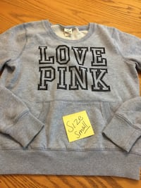 gray and white Pink by Victoria's Secret hoodie Brantford, N3R 2S3