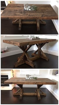 6FT x 3FT Solid Wood Rustic Farmhouse Dining Table Merced