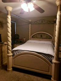 white wooden bed frame with mattress Chandler, 85226