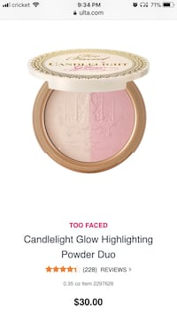 Too Faced Candlelight Glow Highlighter  Germantown, 20876