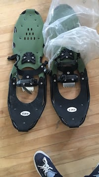 pair of black-and-green boat shoes Laval, H7M 2R2