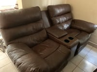 1 piece Leather reclining sofa