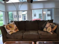 Moss green microfiber couch and loveseat. Silver Spring, 20906