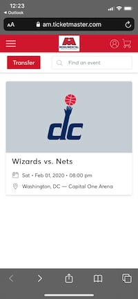 Wizards Vs. Nets 4 Tickets  Fairfax, 22030