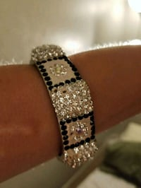 silver and black beaded bracelet Orlando, 32811