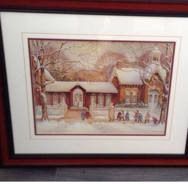 "Trisha Romance print ""The Museum"" Brand New condition.. smoke free, pet free home"