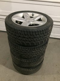 All season tires and rims 225/50/17 null, T7X 0P7
