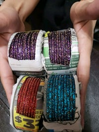assorted color bangles