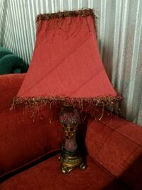 red and white table lamp Mobile