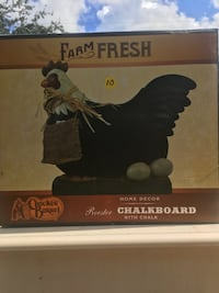 Chicken chalk board with chalk Stuart, 34997