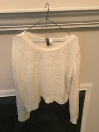 women's white scoop-neck sweater Raleigh