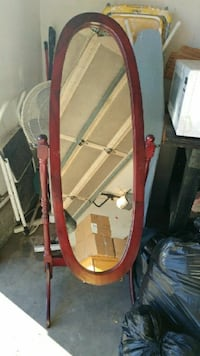 4ft standing oval mirror