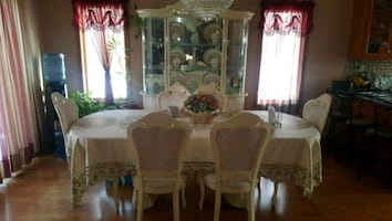 China cabinet and table and chair