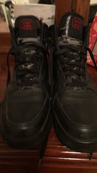 Size 9M they are Steel Toe Men's high top shoes or boots, like new