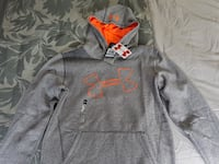 Under Armour Youth XL Grey with Orange Sweatshirt null