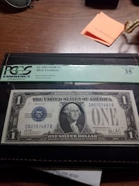 1928B series $1 silver certificate (funny back)