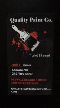 painting & drywall Installation and repairs Kenosha