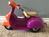 Orange and purple doll scooter. Maple Ridge, V4R 2C8