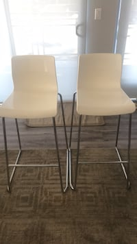 Two white stools (chairs) Los Angeles, 90064