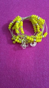 yellow beaded bracelet 14k gold plated charms Woodbridge, 22193