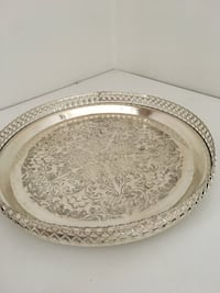 silver plated server