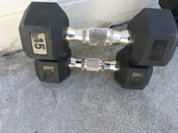 Dumbbells set if 15 lbs and set of 20 lbs