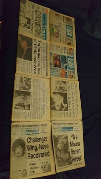 SPACE SHUTTLE CHALLENGER DISASTER NEWSPAPERS!! Palm Bay, 32909