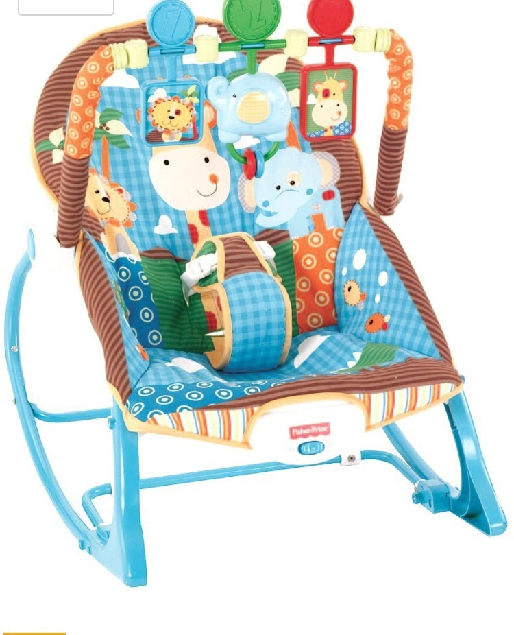 used baby s fisher price blue and brown bouncer seat for sale in rh tr letgo com