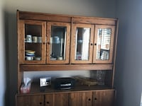Brown wooden cabinet with mirror Calgary, T3M