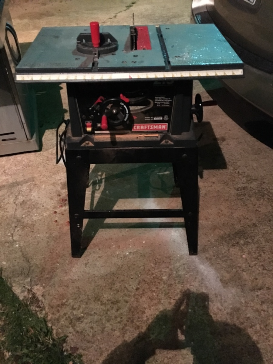 Craftsman 10 inch table saw 2 5 hp in inman letgo for 10 inch table saw craftsman