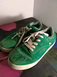 Shoes signed by panthers running back Olympia, 98502