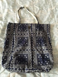 black and gray leather tote bag 589 mi