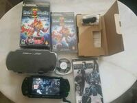 black Sony PS3 slim console with controller and game cases Los Angeles, 91324