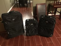 three black softside luggage bags 676 mi