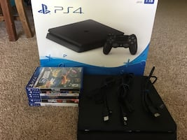PS4 slim 1TB+2 wireless dual-shock controller great condition +6 games