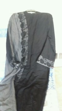 gray and black floral long-sleeved dress College Park, 20740